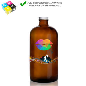 Boston Round Amber Growler 32oz 13058 Digital Printing