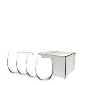 Custom Wine Glasses, Customized Stemless Wine Glasses Gift Set